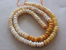 """16"""" Strand Mexican Fire Opal Gemstone Smooth Rondelle Beads 6mm-7mm"""