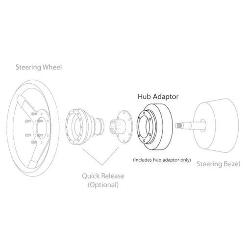 1x Aluminum Short Hub Adapter for Acura CL 97-03 Honda Civic 96-00 Prelude 97-01