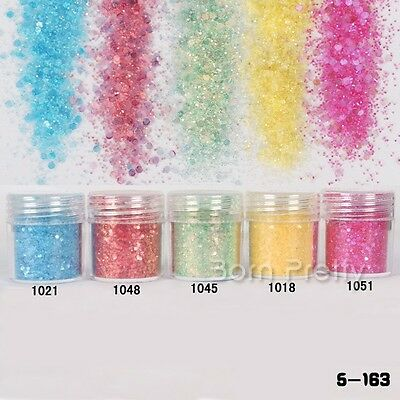Dazzling Nail Art Glitter Powder Shining Super Fine Sheets Tips Manicure Tips