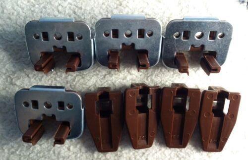 4 New Kenlin Rite-Trak Dresser Drawer Guide Glide w// Metal Bracket /& Stop