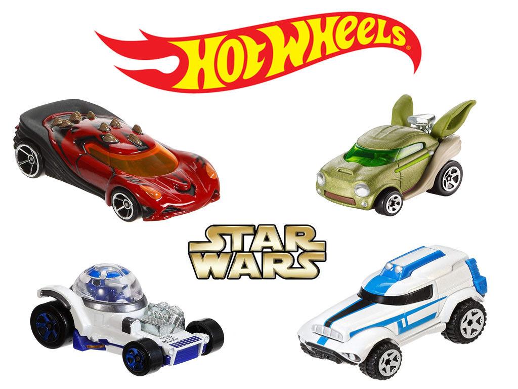 heta hjul stjärnornas krig 4 Set (Yoda, Dkonsth Maul, R2D2, Clone Trooper) Matchlåda