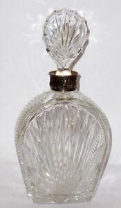 alte silberne karaffe silber silver flasche glas kristall whisky scotch lik r ebay. Black Bedroom Furniture Sets. Home Design Ideas