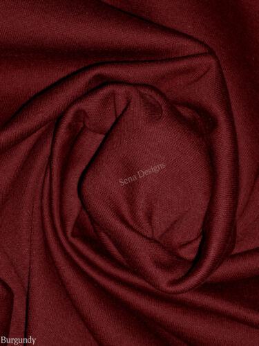 Clearance 100/% COTTON stretch fabric INTERLOCK jersey PLAIN material PLINT1383