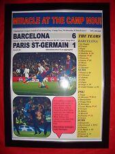 Barcelona 6 PSG 1 - 2017 Champions League - framed print