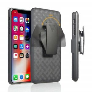 For-iPhone-XR-6-1-034-Hybrid-Shell-Protective-Holster-Belt-Clip-Stand-Case-Cover
