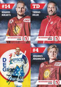 Eishockey-DEG-16-Autogrammkarten-mit-Originalunterschrift
