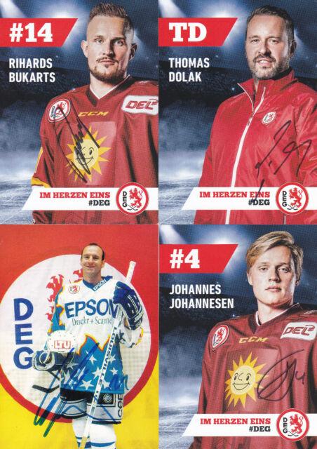 Eishockey - DEG, 16 Autogrammkarten mit Originalunterschrift!