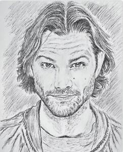 Supernatural Sam Winchester Ink Sketch #MattmansArt