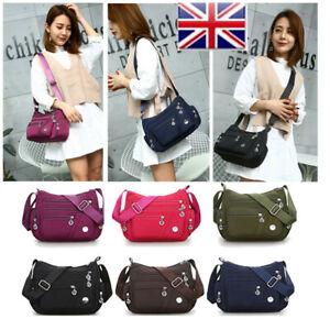 Women-039-s-Canvas-Satchel-Shoulder-Bag-Cross-Body-Messenger-Tote-Waterproof-Handbag