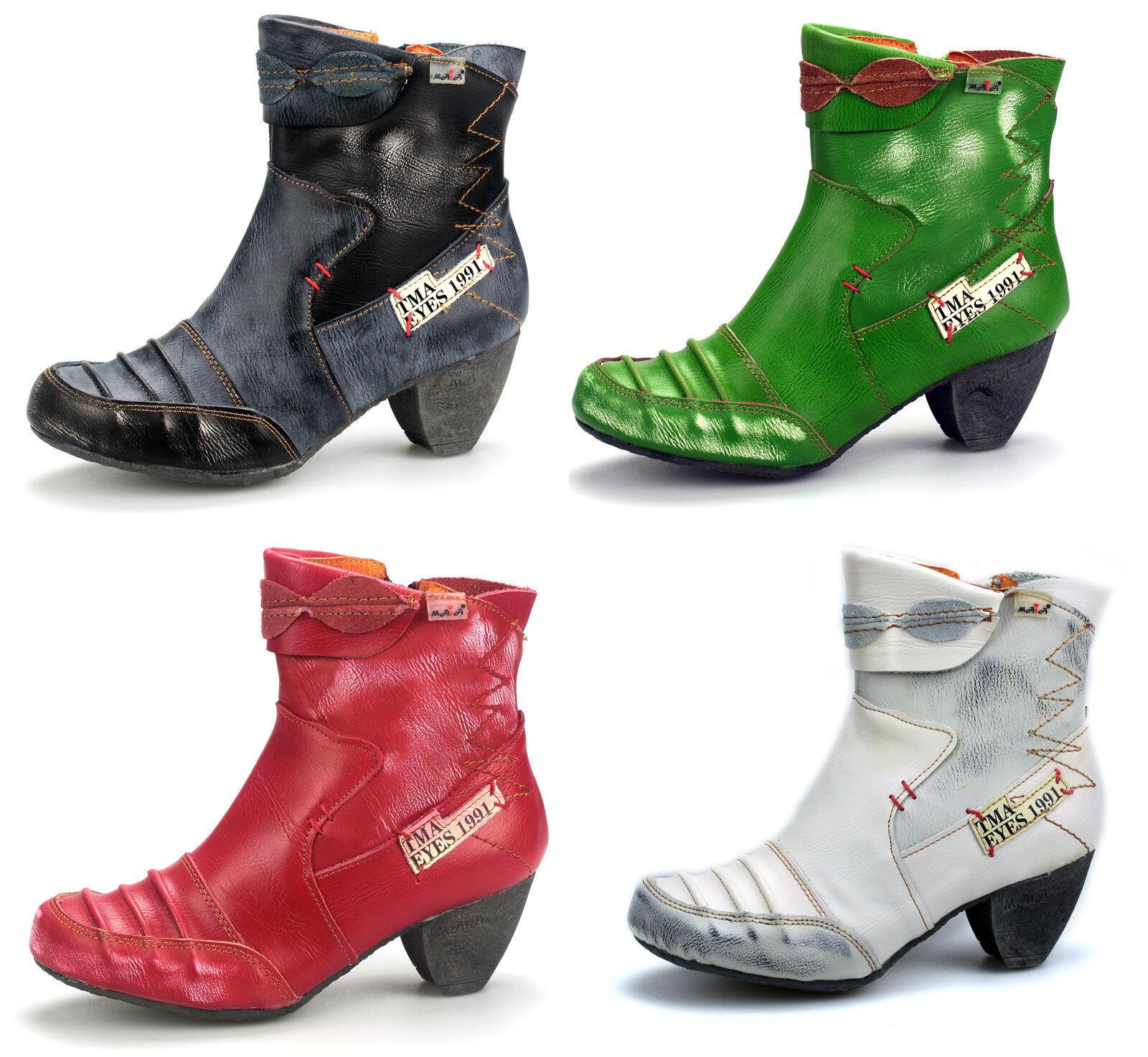 TMA Damen Stiefeletten Stiefel Stiefel Leder Damenschuhe Booty 8909