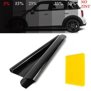 50cm-x-6M-Black-Glass-Window-Tint-Shade-Film-VLT-5-15-25-35-Auto-Car-Roll