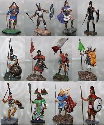 #03 Atlas-de Agostini Figura Leggendaria Guerriero Warrior-zinn-metall-aussuchen Squisita Arte Tradizionale Del Ricamo