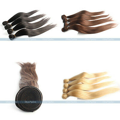 14''-28'' Remy Virgin Straight 100% Real Human Hair Weaving Weft Extensions 50g