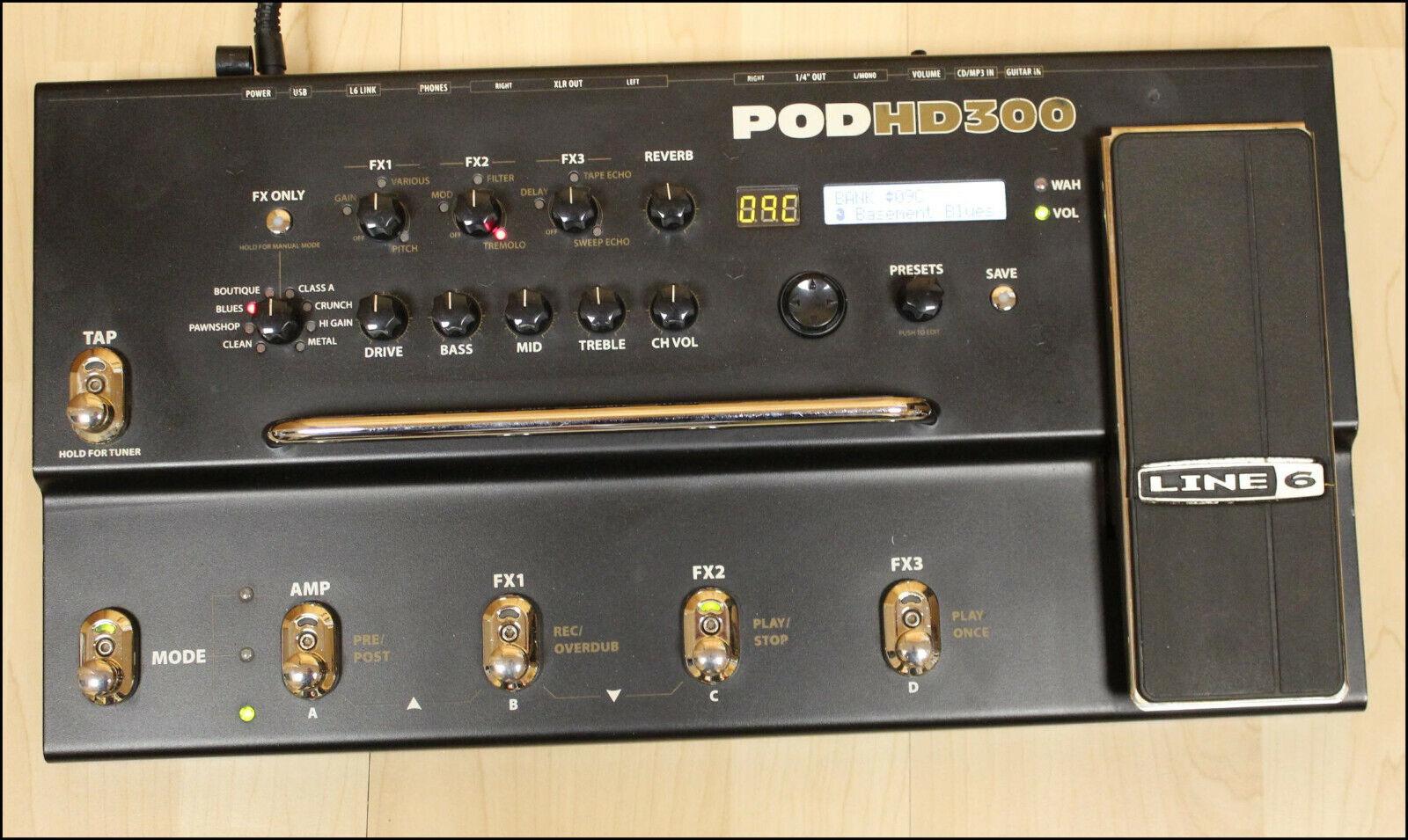 Line 6 POD HD300 Boden Multieffekt Gerät für E-Gitarre Bodentreter Pedal Preamp