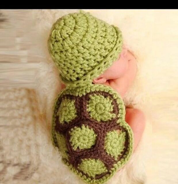 Baby ANIMAL Costume Photo Photography Prop Knit Crochet Beanie Cute Hat Cap Set