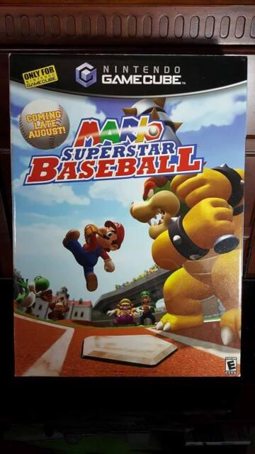 RARE MARIO SUPERSTAR BASEBALL STORE DISPLAY/STANDEE BOX (Nintendo GameCube)