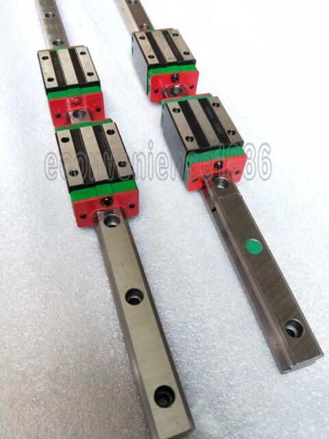 THK HSR30R1FME//LR1FME LINEAR RAIL W//BEARING BLOCKS PAIR 570MM NEW CNC LATHE MILL