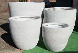 Outdoor-Garden-Patio-Entrance-Planter-Round-Winston-Egg-Pot-Pattern-White