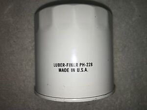 LUBER FINER OIL FILTER Pt# PH-228- Same as- PH-16, LF-16, HF6096 ++MADE IN USA++