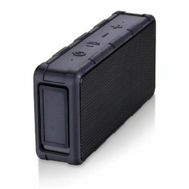 Blackweb Rugged Water Resistant Rechargeable Bluetooth Wireless Speaker Black