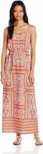 Pink-Rose-Women-039-s-Looped-Details-Maxi-Dress-Size-Large-NEW