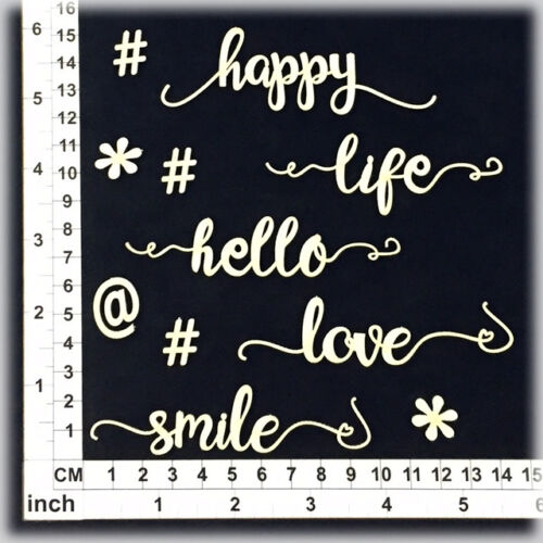 Assorted Words 286115 Chipboard Embellishments for Scrapbooking Cardmaking