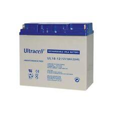 Ultracell UL18-12 : Batterie au plomb étanche 12V 18AH : 181x76x167mm (18000mAh)