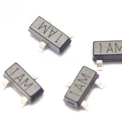 uxcell 100pcs MMBT3904 Transistor 1AM NPN 40V 200mA 200mW Surface Mount SOT-23