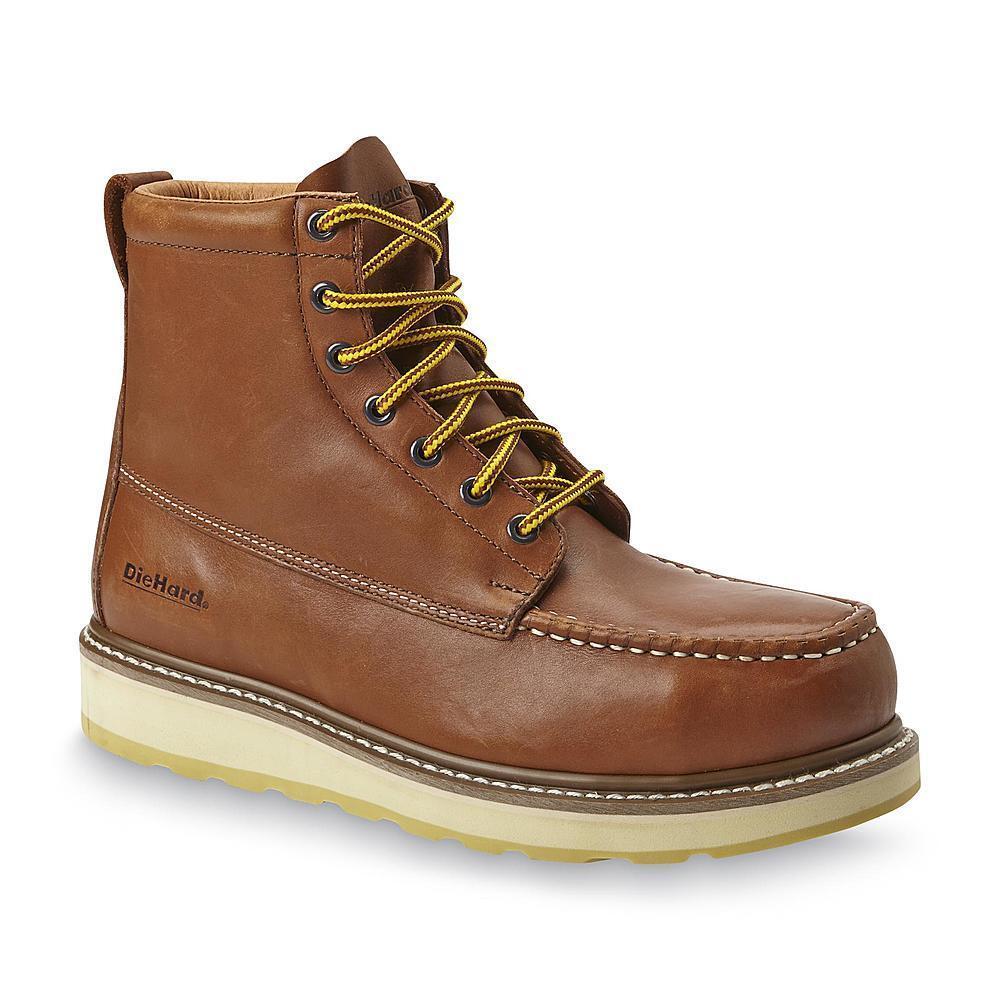 DieHard Men's SureTrack 6  Steel Toe Work Boot Brown oil slip resistant