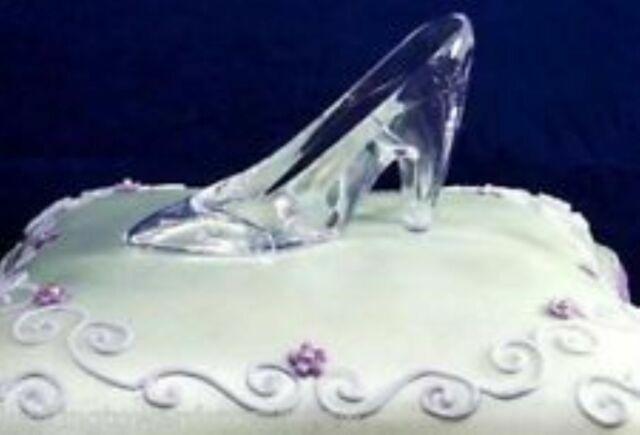 Admirable Disney Cinderella Glass Slipper Princess Shoe Wedding Or Birthday Birthday Cards Printable Inklcafe Filternl