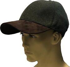 9efab628df9 Baseball Cap Hat Blue Green Shooting 40% Wool Faux Suede Winter Fishing  Hunting