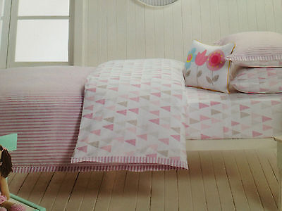 Designers Choice 3 piece Girls Single Bed Lily Stripe Quilt Cover Set & Cushion