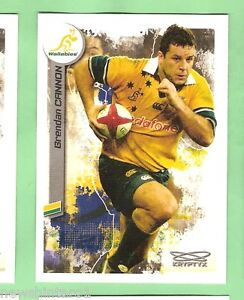 2003 RUGBY UNION CARD #74 BRENDAN CANNON, AUSTRALIAN WALLABIES