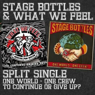 STAGE BOTTLES/WHAT WE FEEL SPLIT EP CD
