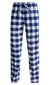 promo code 44101 b87bb Details zu Jachs - Herren L Blau Kariert Flanell Freizeit/Schlaf/Pyjama  Hose - Taschen