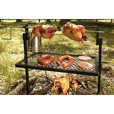 Texsport Rotisserie & Spit Grill - ( grilling camping camp fire cooking bbq )