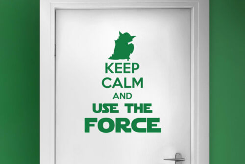 Wandaufkleber keep calm and use the force Tür Zimmer Wandtattoos