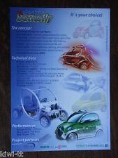 Protoscar Electric Butterfly Prospekt / Brochure / Depliant, Schweiz, 10.2001