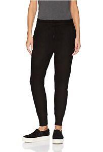 DAILY-RITUAL-Terry-Cotton-amp-Modal-Jogger-Pants-Womens-SZ-XL-Black-VERY-SOFT