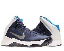 Mens $105 NIKE Zoom Hyperquickness TB Basketball Shoes NAVY BLUE WHITE sz 18