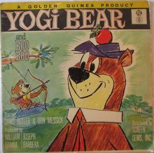 YOGI-BEAR-amp-BOO-BOO-Hanna-Barbera-Starring-DAWS-BUTLER-amp-DON-MESSICK-VINYL-LP
