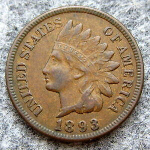 UNITED-STATES-1893-ONE-CENT-INDIAN-HEAD-BETTER-GRADE