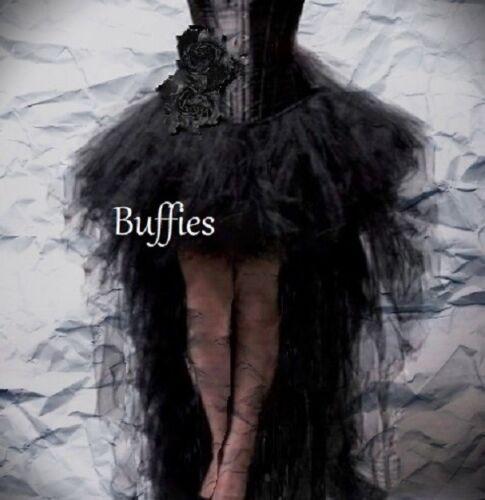 Ladies Tulle Net Tutu Black White Goth Witch Steampunk Burlesque Bustle SZ  6-22