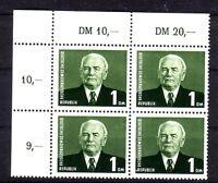 DDR Michelnummer 342 b Viererblock Ecke oben links postfrisch