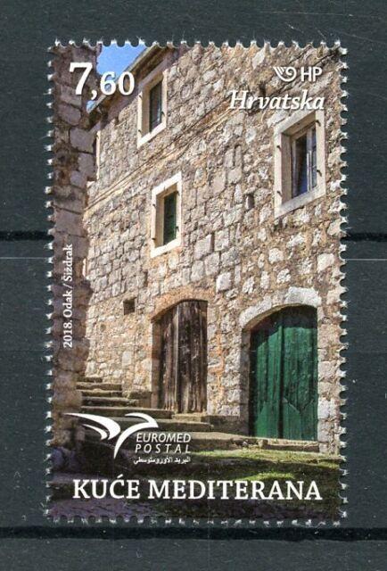 Croazia 2018 Gomma integra, non linguellato Mediterraneo CASE euromed postale 1v Set ARCHITETTURA FRANCOBOLLI