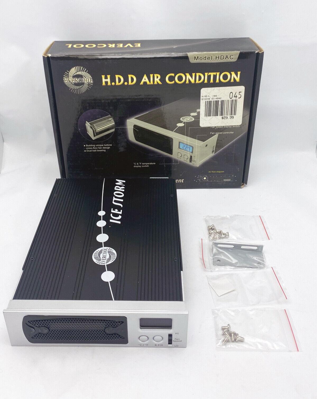 NEW Evercool Aluminum H.D.D Cooling Heatsink w/ LCD Display in 5.25