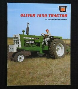 1968-034-OLIVER-1850-92-PTO-HORSEPOWER-TRACTOR-034-CATALOG-BROCHURE-VERY-NICE
