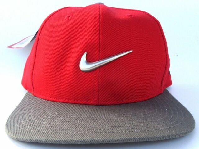 Nike Tiger Woods Red   Grey Cap   Hat Adult One Size for sale online ... ca8a80471d2