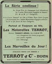 Y8221 Moto TERROT - I° au G.P. de Champagne - Pubblicità d'epoca - 1912 Old ad