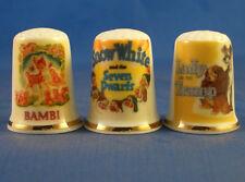 Birchcroft Thimbles -- Set of Three - Vintage Advertising Posters - Cartoon Film